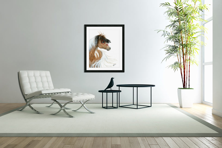 Majestic Pinto Horse in Custom Picture Frame