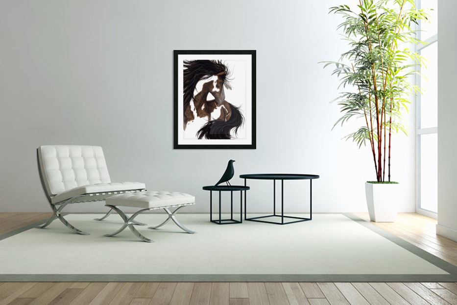 Pinto Horse in Custom Picture Frame