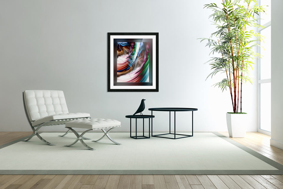 Whispers In A Dreams Of Beauty Fractal Abstract Portrait Art in Custom Picture Frame
