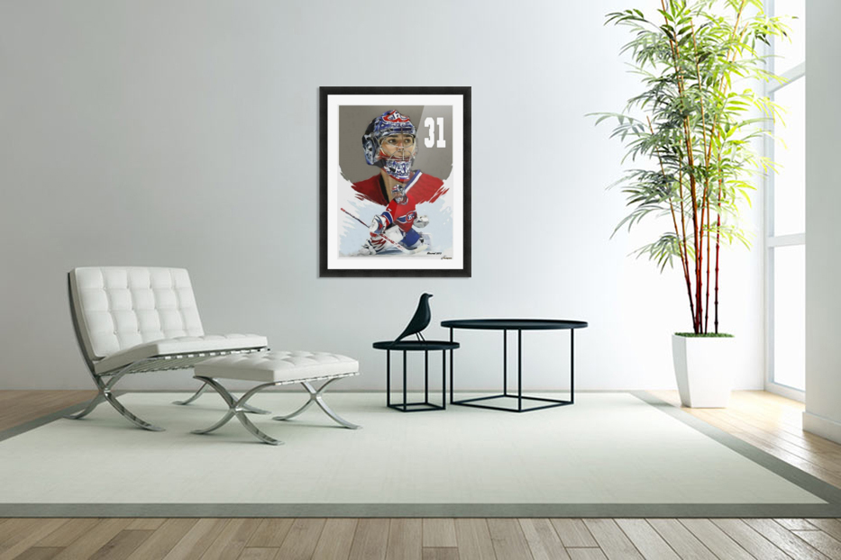 Carey Price portrait in Custom Picture Frame