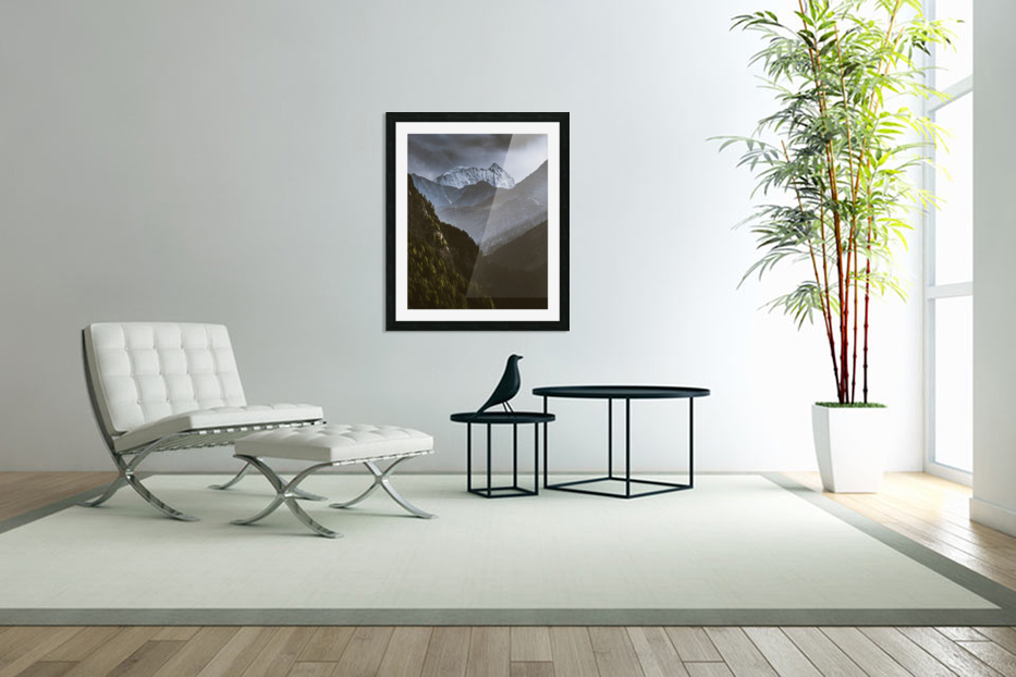 Between the trees in Custom Picture Frame