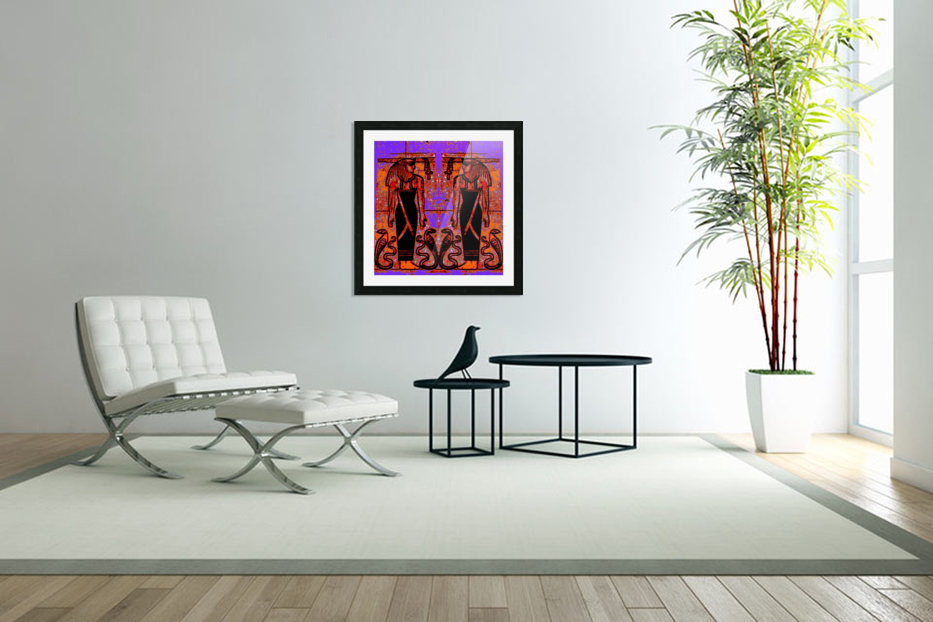 Egyptian Priests And Snakes In Garden 1 in Custom Picture Frame