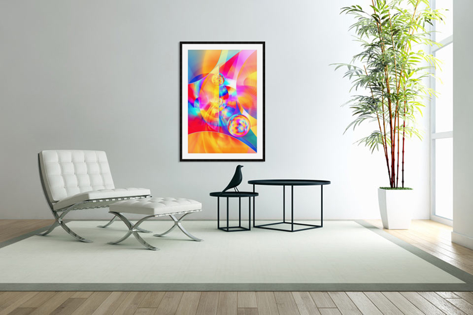 4th Dimension -Abstract Art XVII in Custom Picture Frame