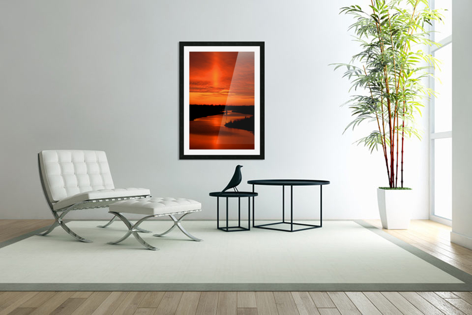 Big Ditch Sunset in Custom Picture Frame
