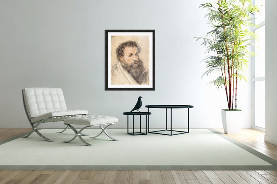 Portrait of a Man by Rubens in Custom Picture Frame