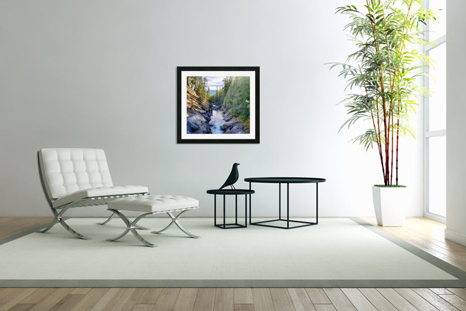 Icicle Gorge Trail in Custom Picture Frame
