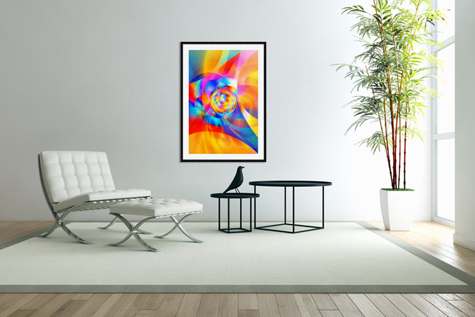 4th Dimension - Abstract Art XVI in Custom Picture Frame