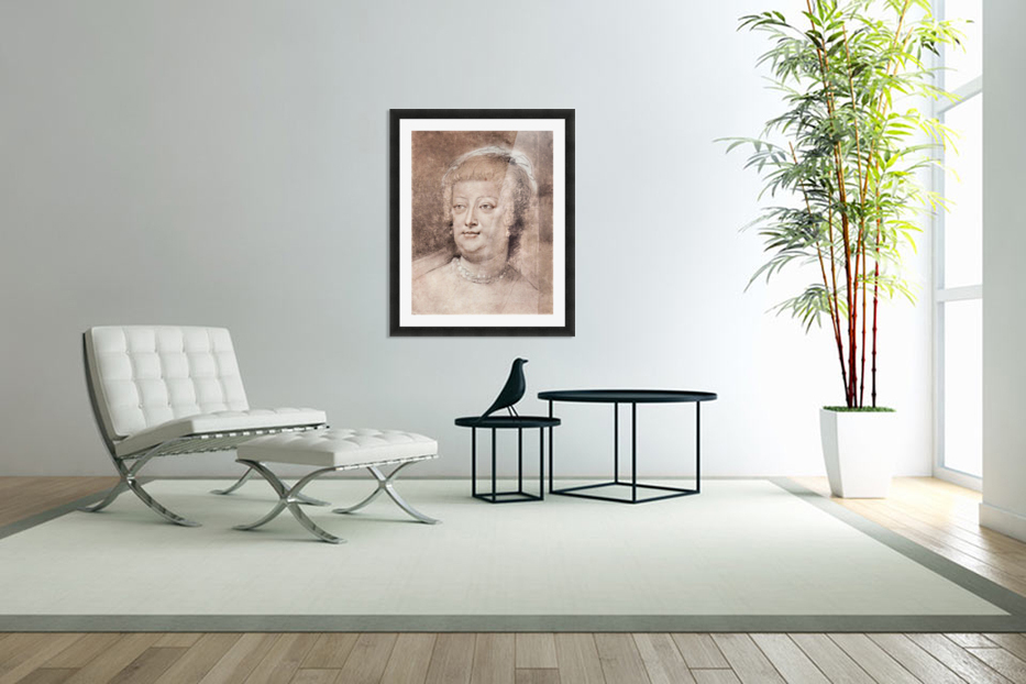 Portrait of Maria de Medici by Rubens in Custom Picture Frame