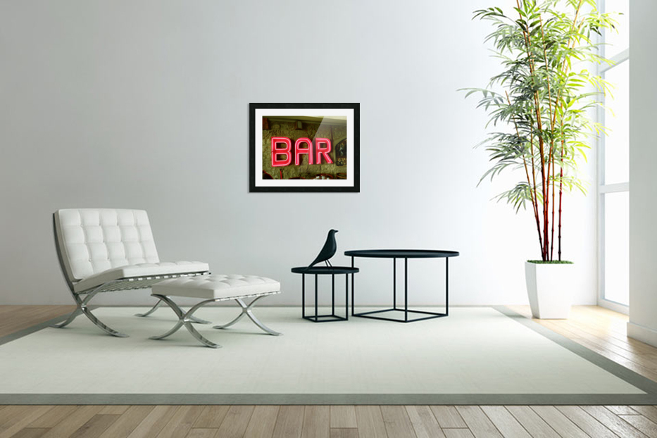 Bar Sign in Custom Picture Frame