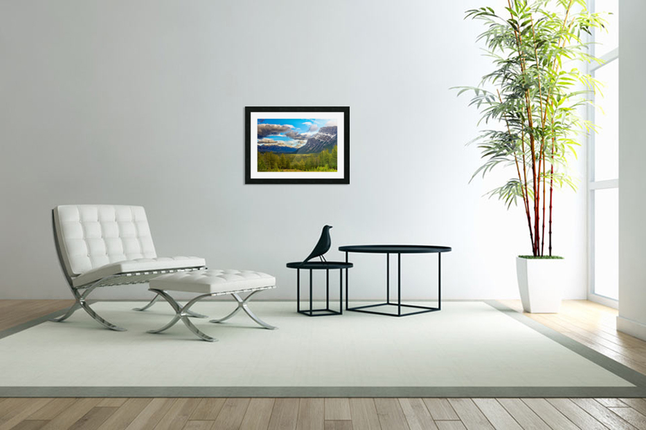 Canadian Rockies in Custom Picture Frame
