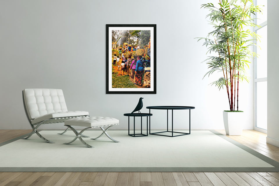Funeral Feast Procession Bali in Custom Picture Frame