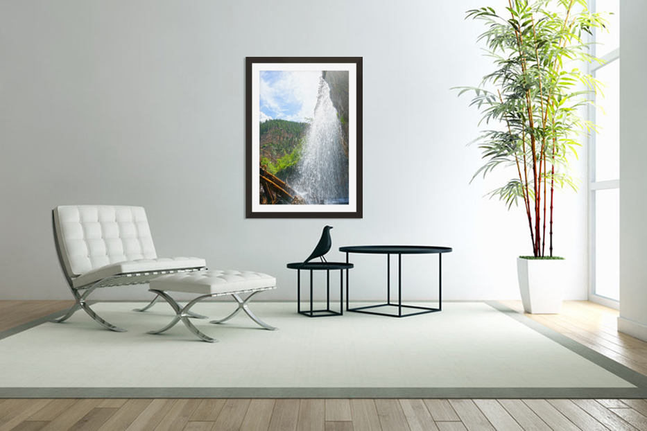 Inside the Waterfall in Custom Picture Frame