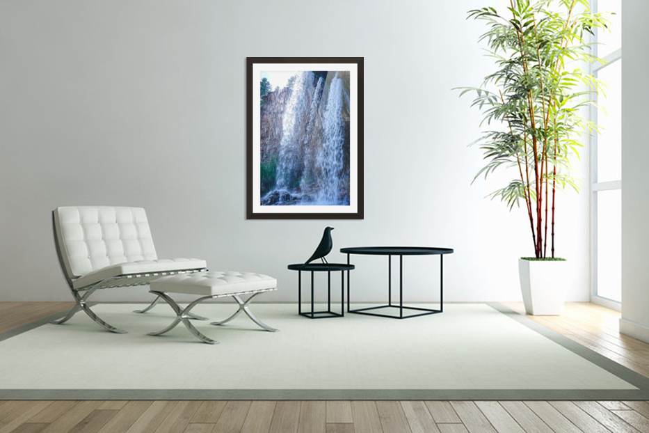 Standing in the Waterfalls in Custom Picture Frame