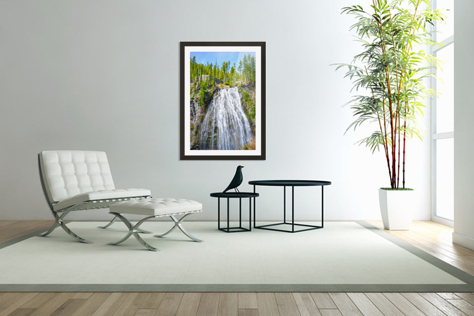 Northwest Waterfall in Custom Picture Frame
