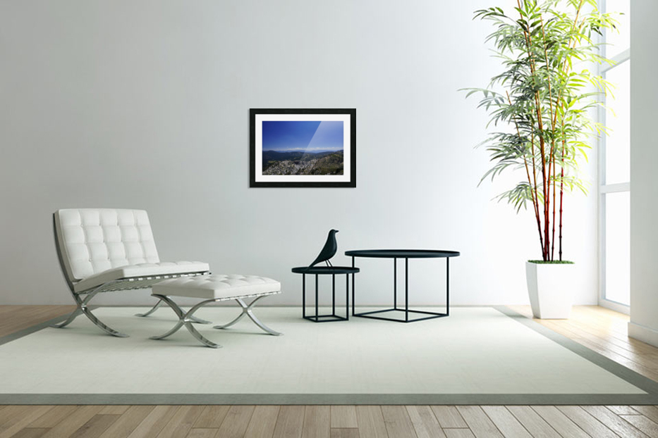 View from the Top Lake Tahoe California in Custom Picture Frame