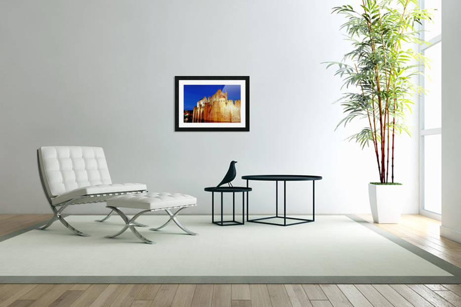 Castle of the Counts Belgium in Custom Picture Frame