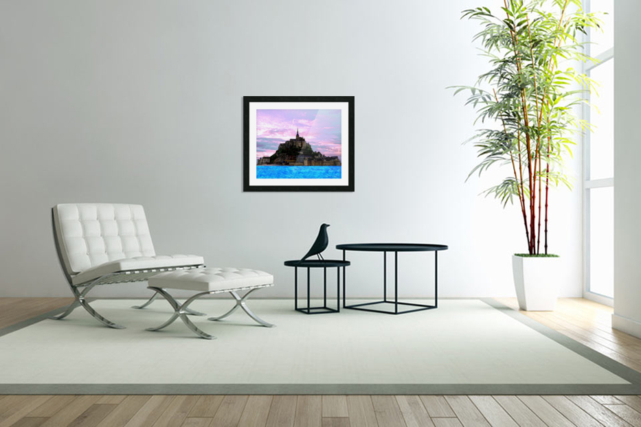 Mont St Michel at Sunset - France in Custom Picture Frame