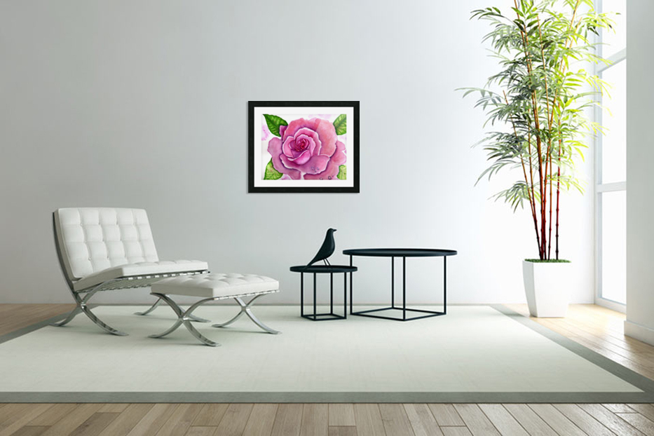 Magnificent Rose in Custom Picture Frame