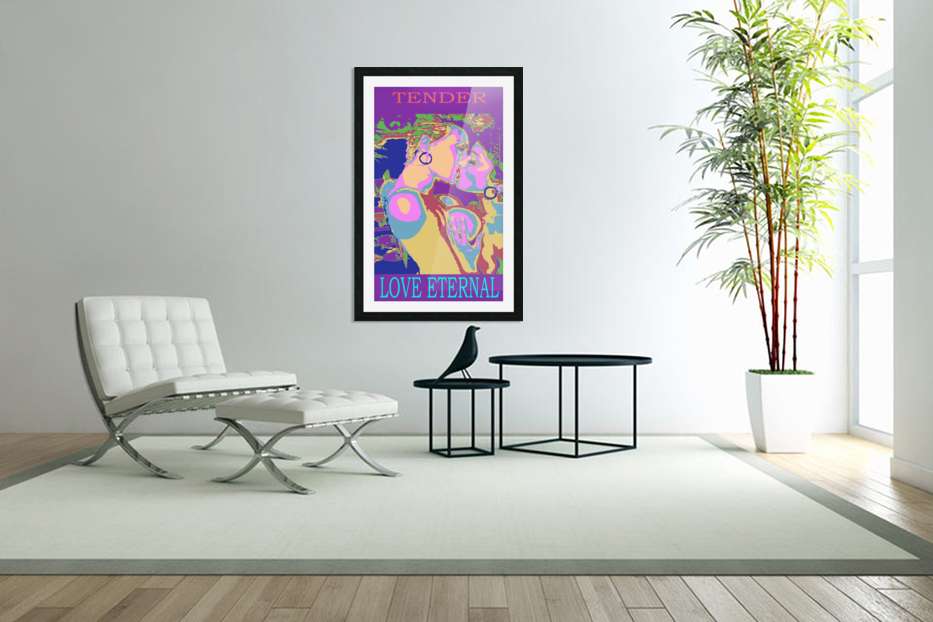 The Kiss in Custom Picture Frame