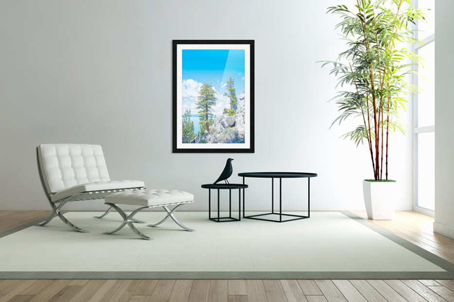 Top of the Mountain California  in Custom Picture Frame