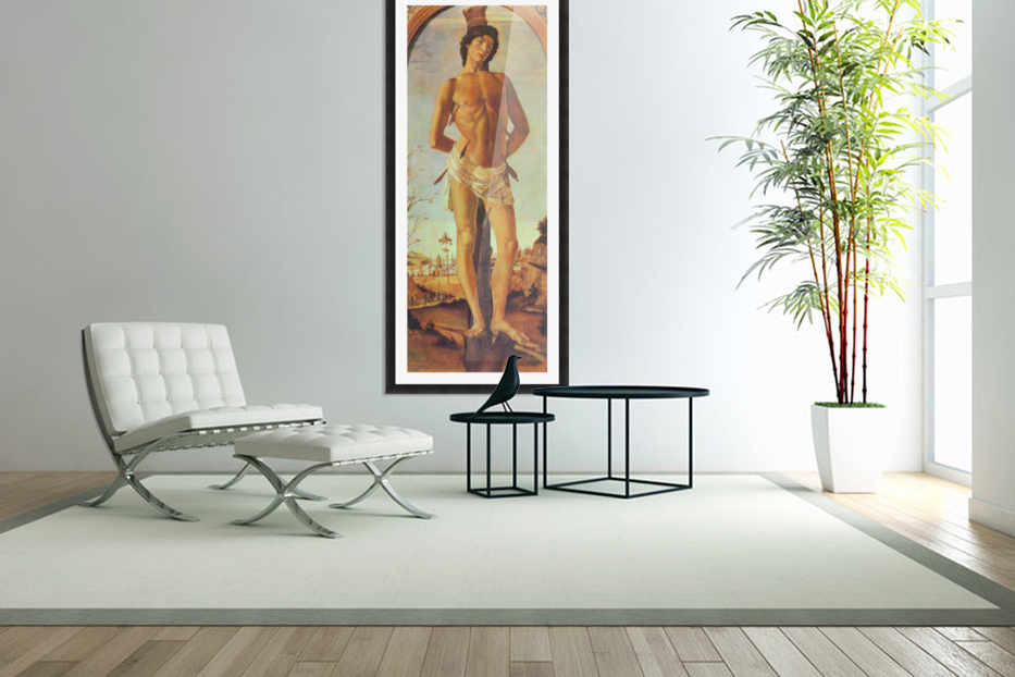 St. Sebastian by Botticelli in Custom Picture Frame