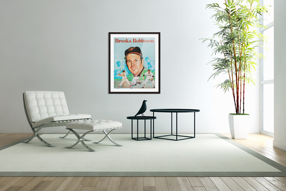 1974 Brooks Robinson Poster in Custom Picture Frame