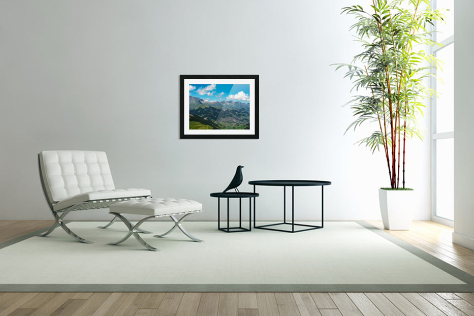 The Bernese Alps Switzerland in Custom Picture Frame