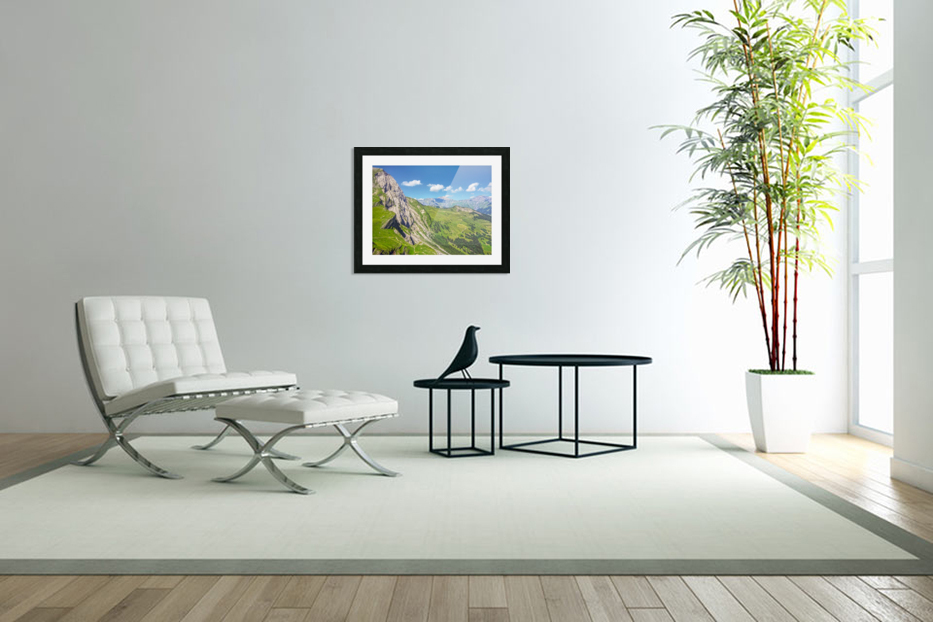 Deep in the Swiss Highlands in Custom Picture Frame