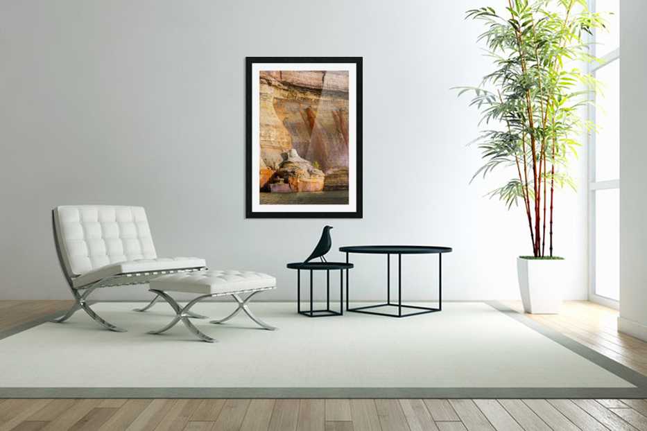 Pictured Rocks ap 2508 in Custom Picture Frame
