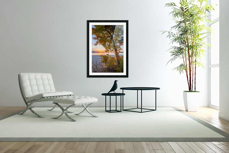 Sunset ap 2574 in Custom Picture Frame