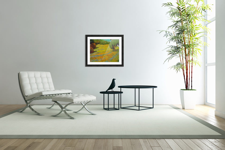 Sunny Lawn by Van Gogh in Custom Picture Frame