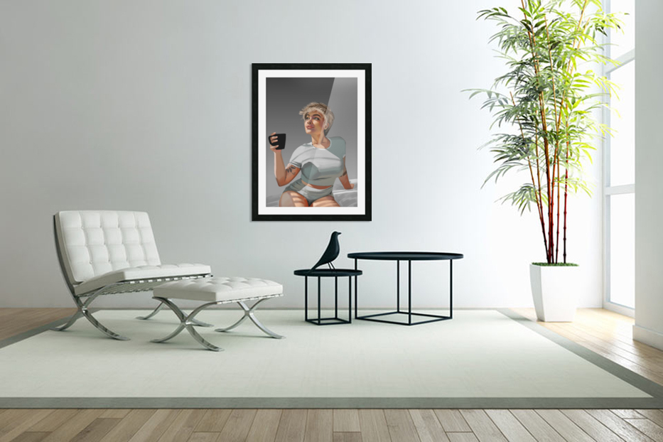 Wake Up And Smell The Coffee in Custom Picture Frame