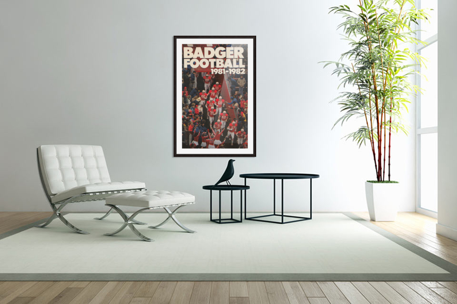 1981 Wisconsin Badgers Football Poster in Custom Picture Frame