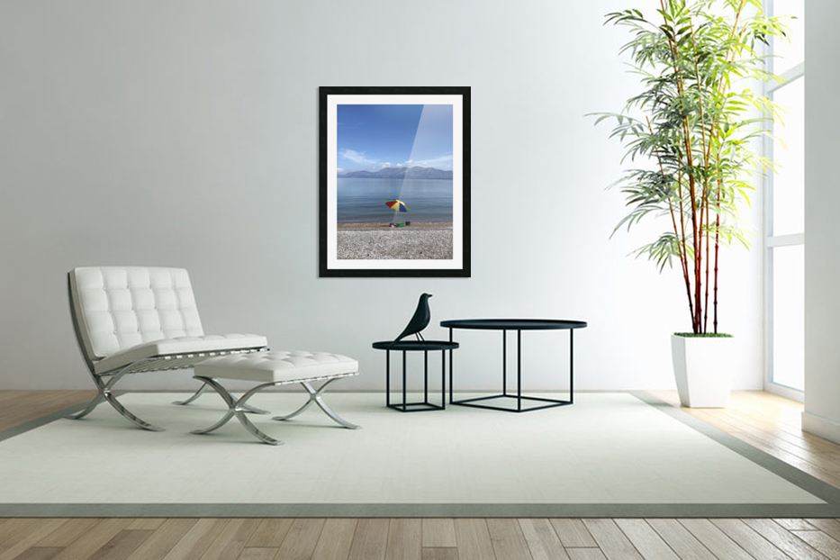 Greece the view of Evia in Custom Picture Frame