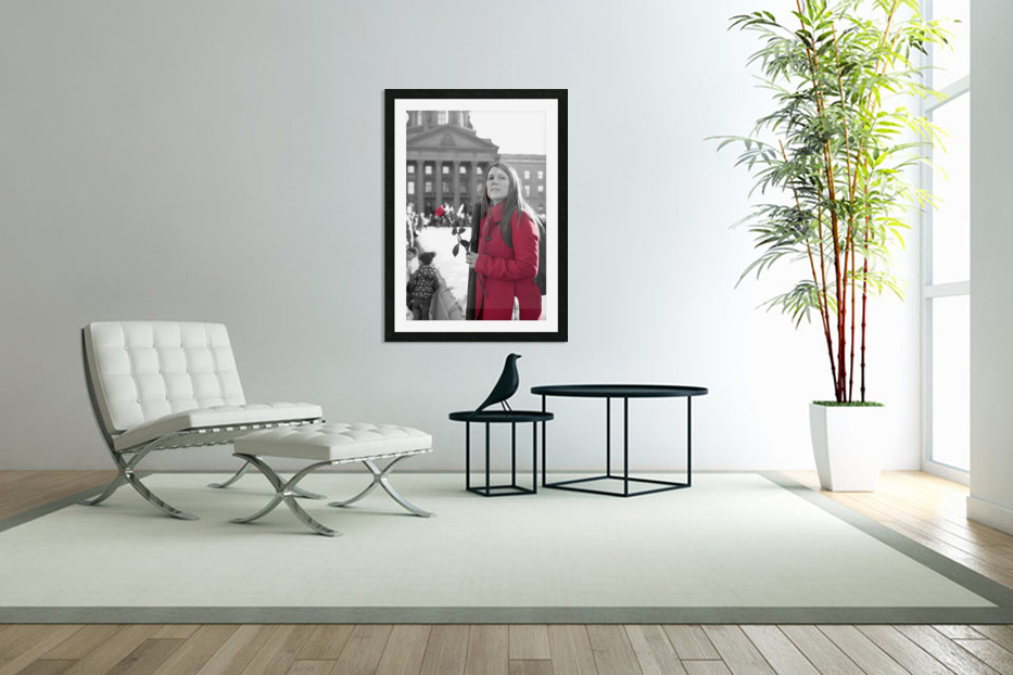 Girl with Flower in Custom Picture Frame