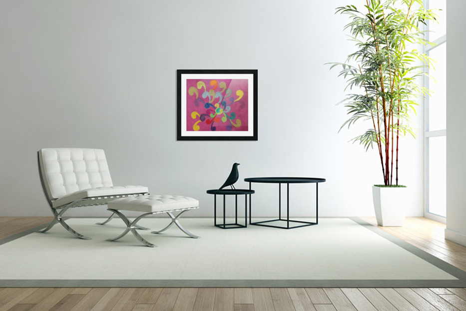 Pink Abstract in Custom Picture Frame