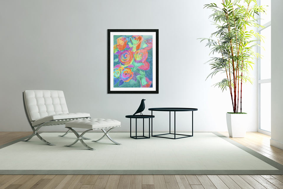 Colorful flowers in Custom Picture Frame
