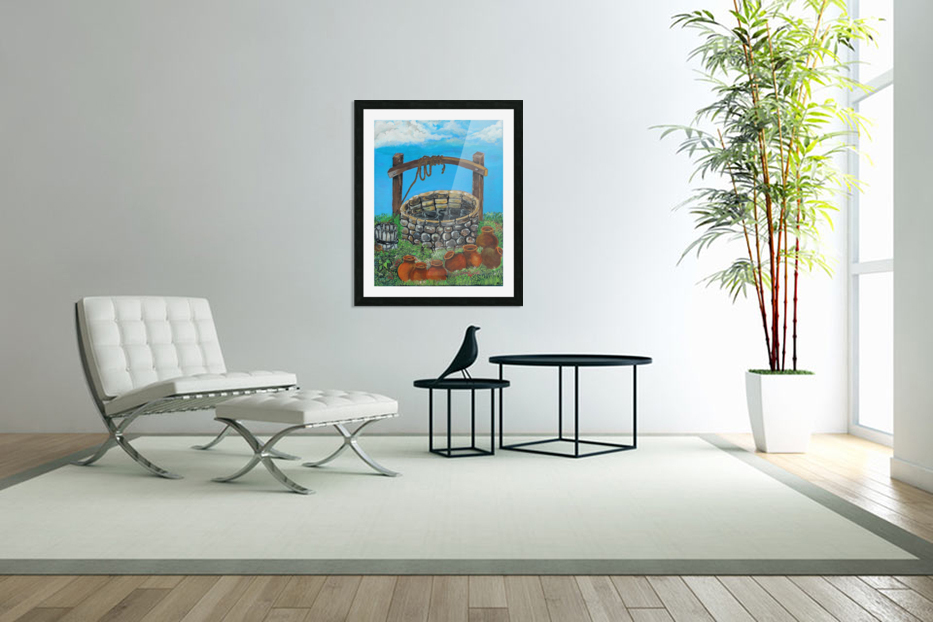 A lonely well in Custom Picture Frame