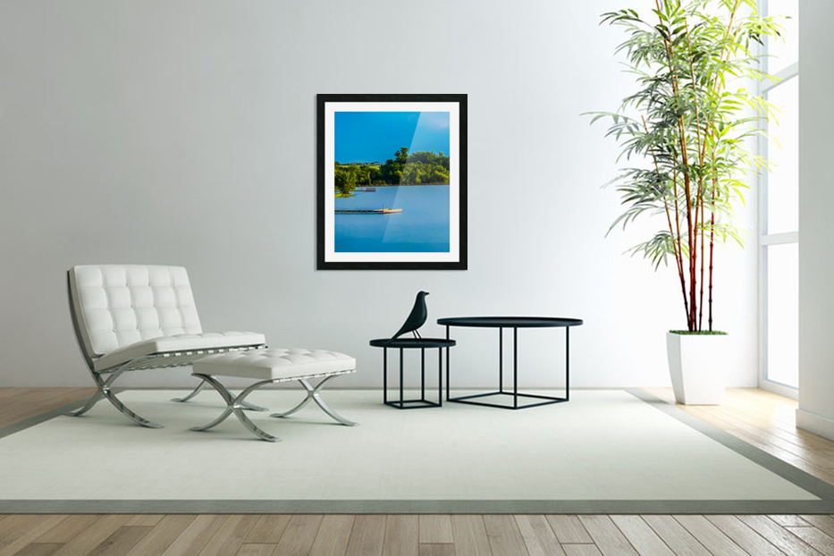 Carries Paradise in Custom Picture Frame