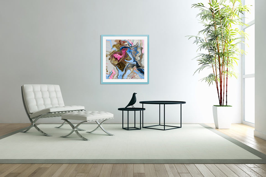 bluepour in Custom Picture Frame