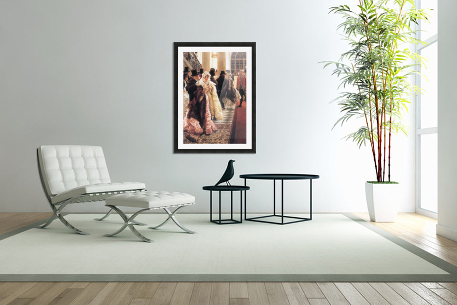 The fashionable woman by Tissot in Custom Picture Frame