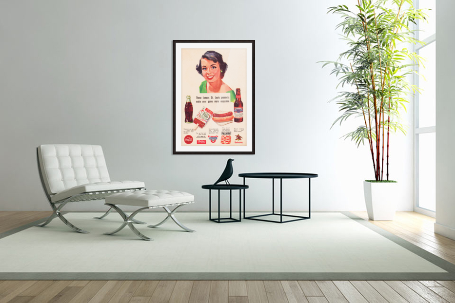 Vintage St. Louis Sportsman Park Concessions Ad in Custom Picture Frame