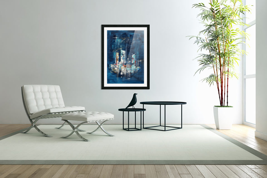 Uptown starry night II in Custom Picture Frame