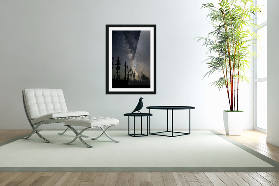 Yellowstone Milky Way in Custom Picture Frame