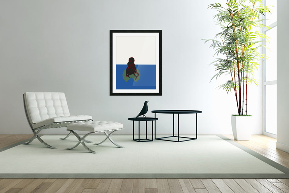 Lily Pond in Custom Picture Frame