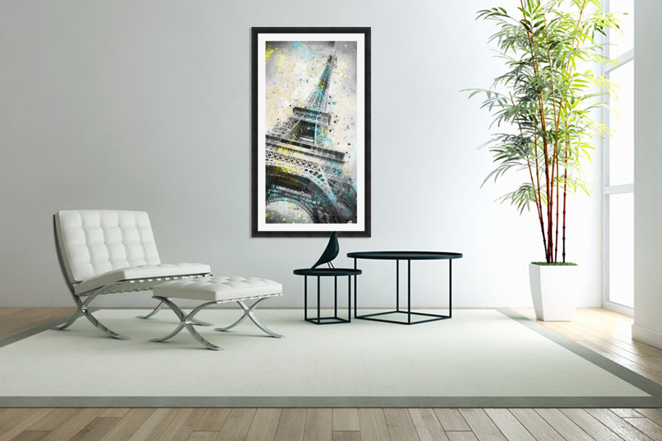 City-Art PARIS Eiffel Tower IV in Custom Picture Frame