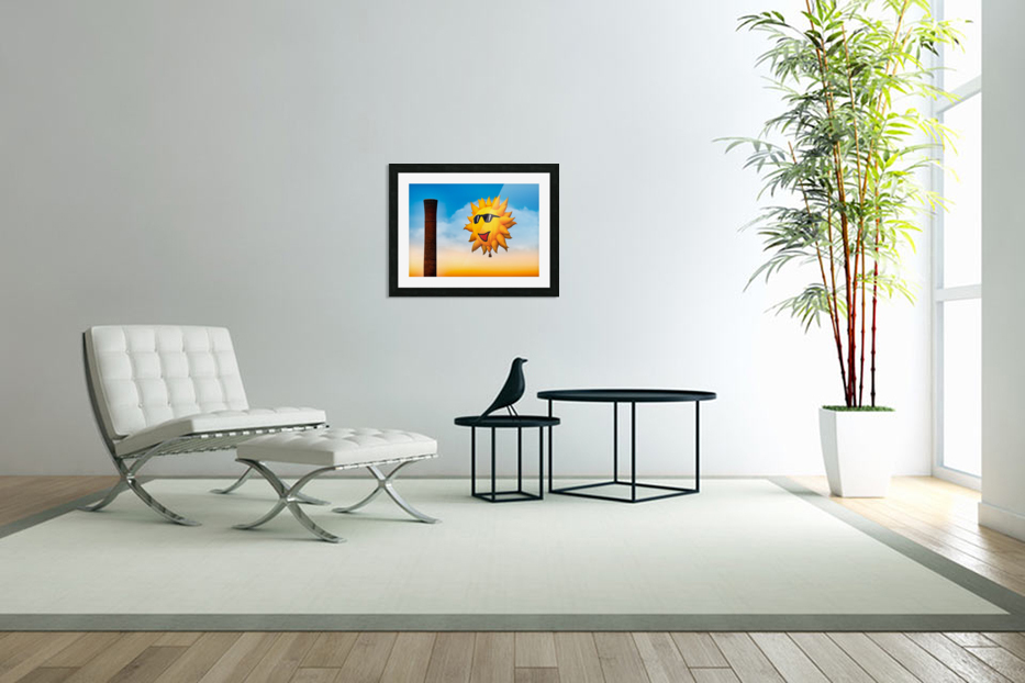 Sunny and the Smokestack in Custom Picture Frame