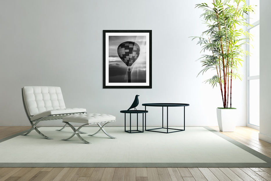 Hot Air Balloon On A Smokestack in Custom Picture Frame