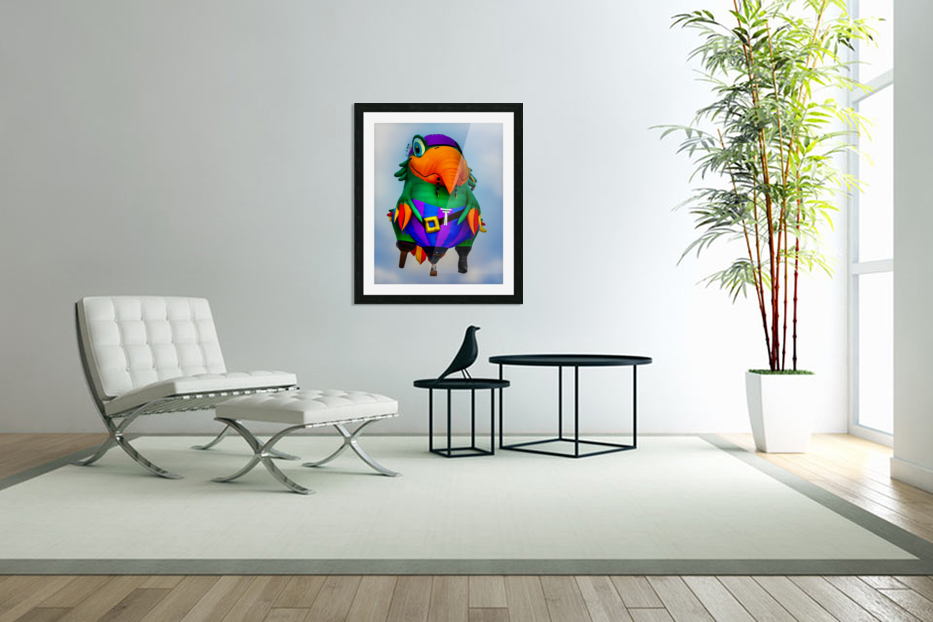 Pirate Parrot Adventures in Custom Picture Frame