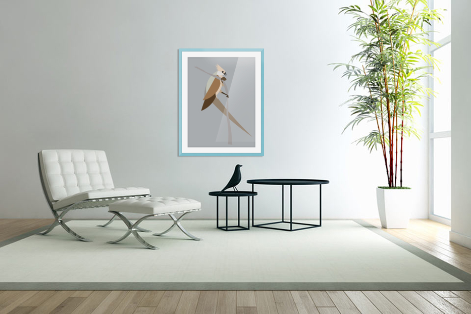 Blue-Naped Mouse Bird in Custom Picture Frame